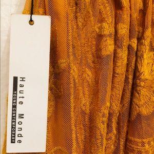 """Honey Mustard Dress Zipper""""Haute Monde""""- Small."""